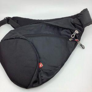 SwissGear Black unisex Wrap Sling Bag